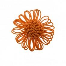 Fiore in corda col.arancio diam cm 6.5