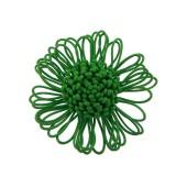 Fiore in corda col.verde diam cm 6