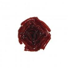 Fiore in conteria rosso  diam. cm 4.5 circa