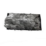 Accessorio in pelle+metallo argento antico cm 9.5x4 circa