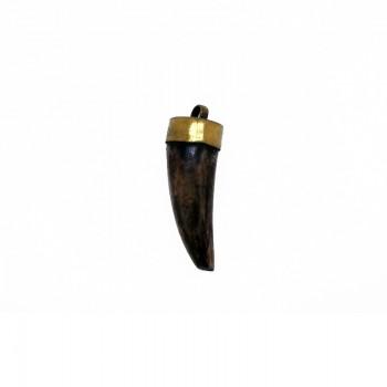 Ciondolo in corno da cm 4 con anellino