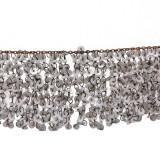 Passamaneria in ottone con paillettes bianche alt. cm 5 circa a mt