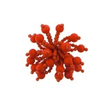 Accessorio con sfere corallo diametro cm 5