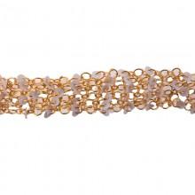 Catena c/anelli+paillettes bianche alt. cm 2.5 circa