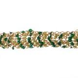 Catena  c/anelli+paillettes verdi alt. cm 2.5 circa