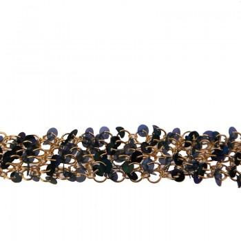 Catena  c/anelli+paillettes scarabeo alt. cm 2.5 circa