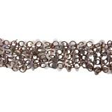 Catena  c/anelli+paillettes metallo alt. cm 2.5 circa