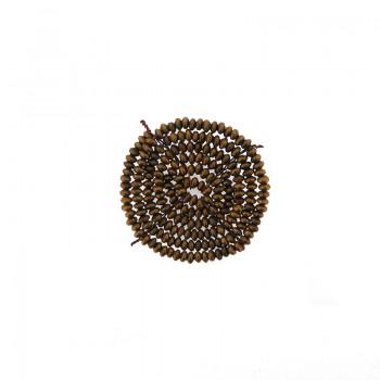 Applicazione tonda in metallo con sfere grezze e filo in rame 3 cm