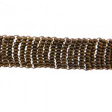 Applicazione rettangolare in metallo con sfere grezze e filo in rame 31 x 2 cm