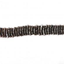 Applicazione rettangolare in metallo con filo rame 11 x 1.3 cm