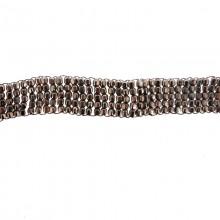 Applicazione rettangolare in metallo con filo in rame 14.5 x 1.7 cm