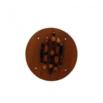 Tondo in legno (nangka wood) da mm.50 con lavorazioni