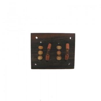 Rettangolo in legno mm 44x37 c/lavorazioni (robles wood)