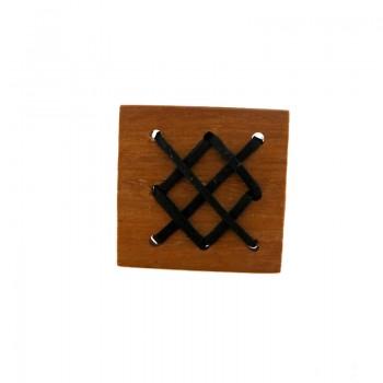 Quadrato in legno mm 35x35 c/lavorazioni (nangka wood)
