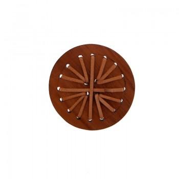 Tondo in legno cm 5.5 c/lavorazioni (bayong wood)