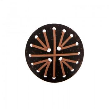 Tondo da cm 6 c/lavorazioni (brown coco)