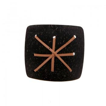 Quadrato da cm 5.5x5.5 c/lavorazioni (brown coco)