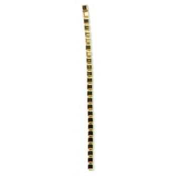 Catena ad elementi quadrati mm 4x4 in ottone