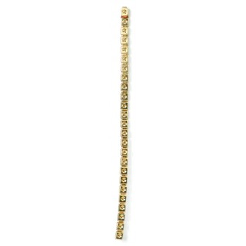 Catena ad elementi quadrati mm 4x4 p/strass in ottone