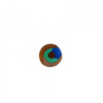 Tondo mm 30 legno+resina colorata