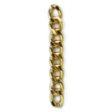 Catena in alluminio dorato mm 15