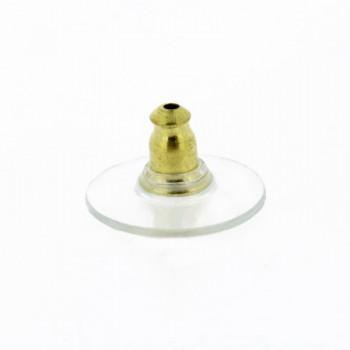 Farfallina con disco in silicone dorato antiallergico