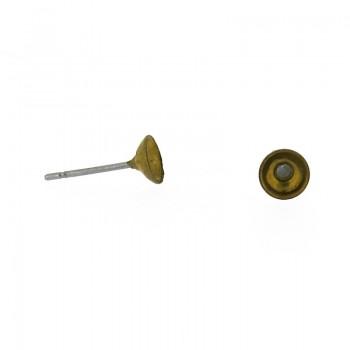 Perno per orecchino portapietra da mm.5
