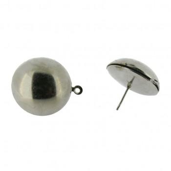 Perno a mezza sfera da mm.20 con anello