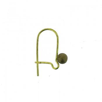 Monachella in ottone chiusa con pallina