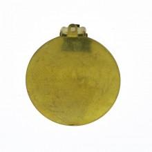 Clip per orecchino bombata da mm 22 con anellino