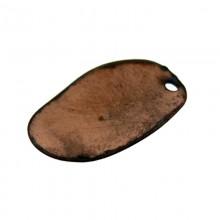 Paillette ovali con un foro in ferro ramìato mm 11 x 19