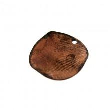 Paillette tonda con foro in ferro ramato mm 14