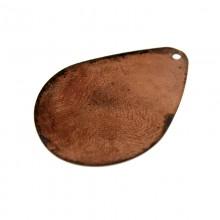 Paillette a goccia con un foro in ferro ramato mm 30 x 21