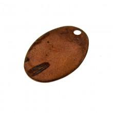 Paillette ovale con un foro in ferro ramato mm 10 x 15