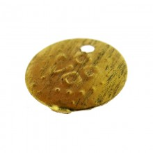 Paillette tonda con foro in ottone lavorato mm 12