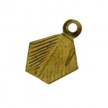 Paillette a foglia con anello in ottone lavorato mm 12