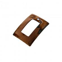 Paillette rettangolare con foro in ferro ramato mm 19 x 14