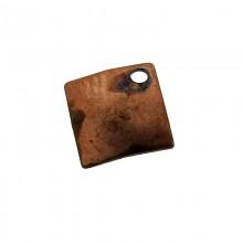 Pailllette quadrata con foro in ferro ramato mm 6 x 6