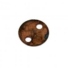 Paillette tonda con foro in ferro ramato mm 6