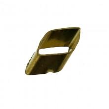 Paillette rombo con foro in ottone mm 8