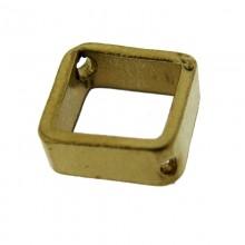 Paillette quadrata con due fori in ottone mm 8 x 8