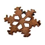 Paillette stella in ferro ramato mm 10