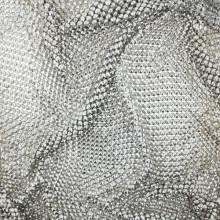 Maglia metallica nickel da 160x50 cm composta da piramide da 3 mm