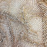 Maglia metallica oro da 160x50 cm composta da piramide da 3 mm