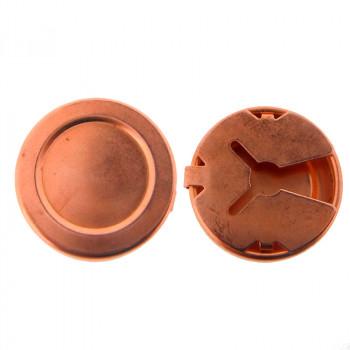 Copribottone mm 25 in ferro ramato