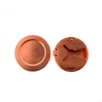 Copribottone mm 15 in ferro ramato