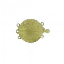Chiusura zigrinata per collana a 3 fili 18 mm