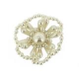 Fiore in perla 45 mm circa
