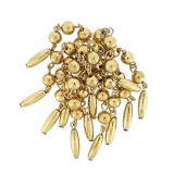 Pendente a 12 fili palline oro