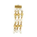 Pendente 3 fili con perle e oro lunghezza 60 mm circa